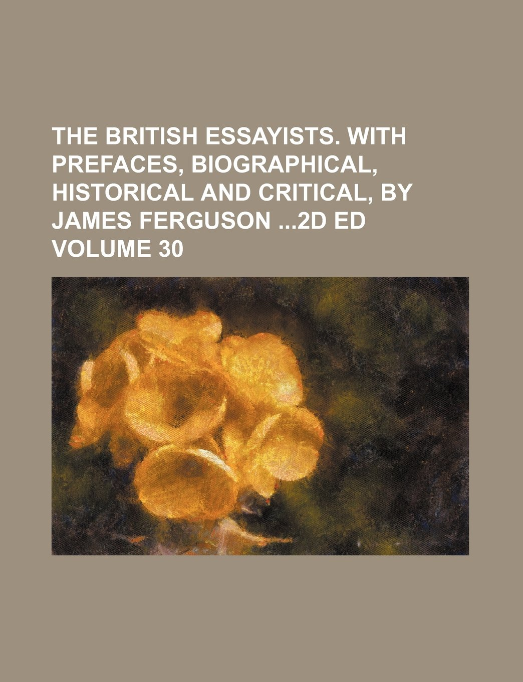 The British essayists. With prefaces, biographical, historical and critical, by James Ferguson 2d ed Volume 30 ebook