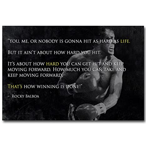 Amazon com: 13X20Inch Rocky Balboa Inspirational