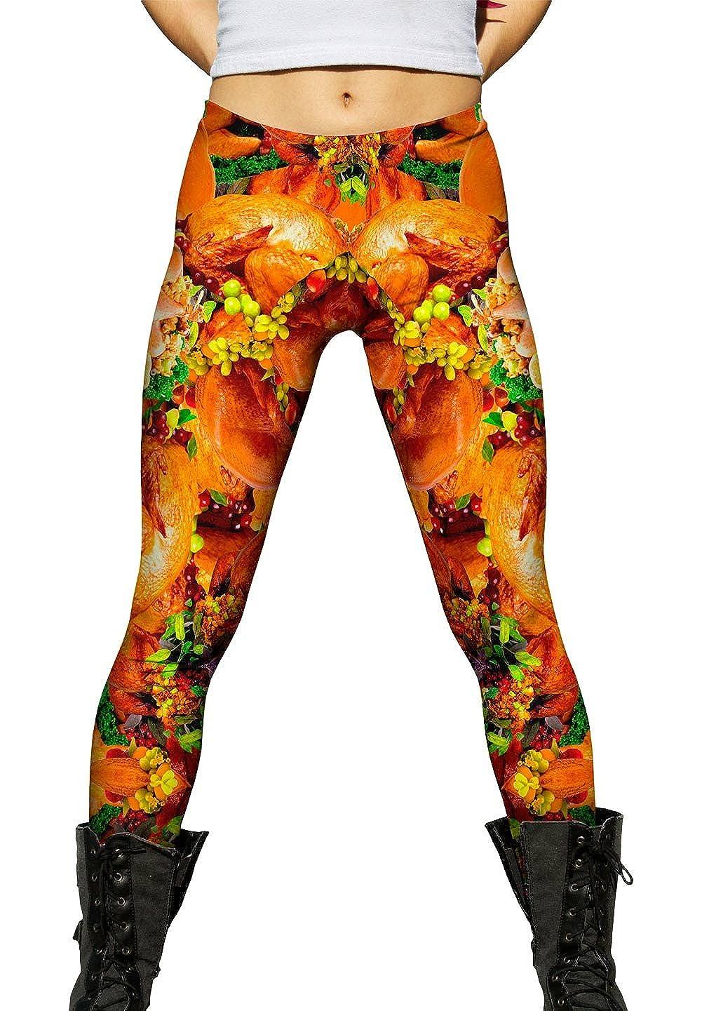 9c22315e1ab7a6 Yizzam- Thanksgiving Turkey- Ladies Womens Leggings at Amazon Women's  Clothing store: