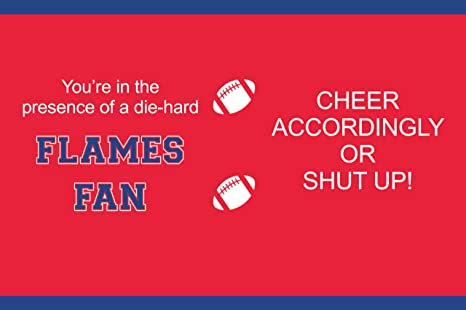 16-Ounce Tree-Free Greetings sg24473 Flames College Football Fan Sip N Go Stainless Steel Lined Travel Tumbler