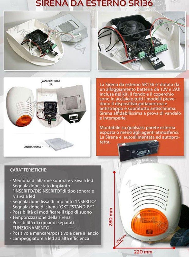 AMC - Kit de alarmas antirrobo con combinador GSM C24 Plus, sirena para exterior con sensor, versión completa, baterías incluidas.: Amazon.es: Bricolaje y ...