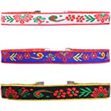 VK Accessories Embroidered Chokers Sets in Different Patterns and Widths 11.5 Inches with 2.5Inches Extended