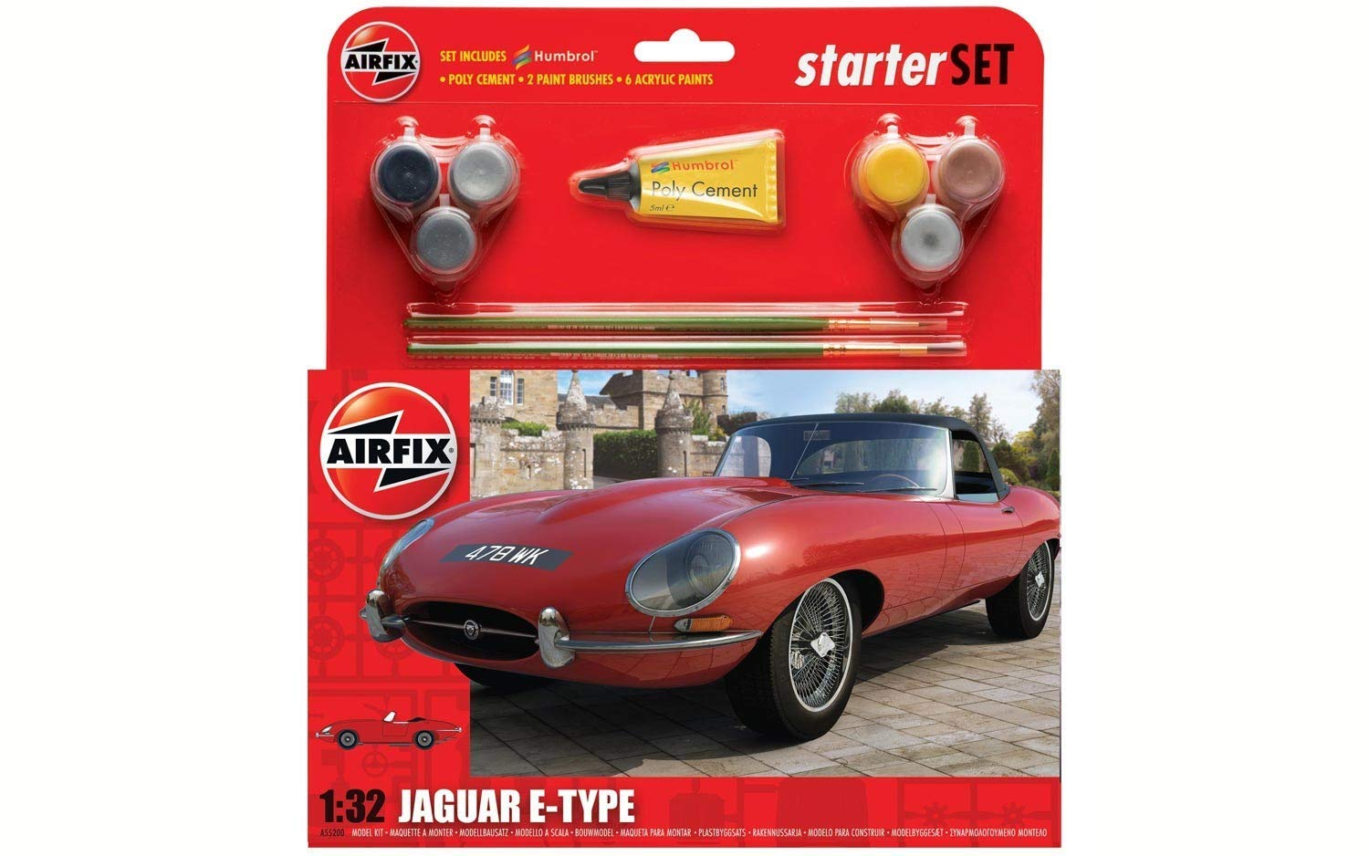 Amazon.com: Airfix Jaguar E-Type Starter Set Plastic Vehicle ...