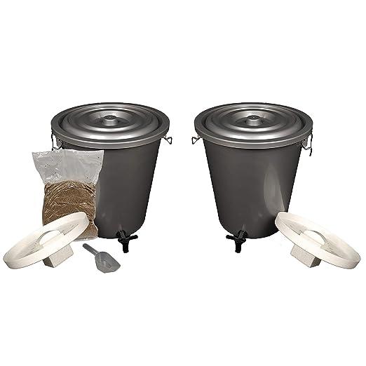 Valor Paquete Doble, 2 x 27 litros Bokashi Compost cubos, orgánico ...