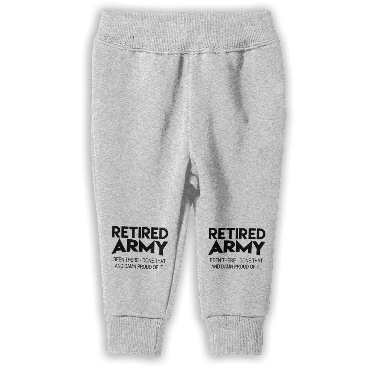 ShineFun Printed Retired Army Proud Child Boys Girls Unisex Running Sweatpants