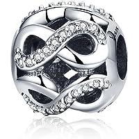Infinite Love Argent sterling 925Perle Charms Compatible avec Pandora, bracelets européens Compatible