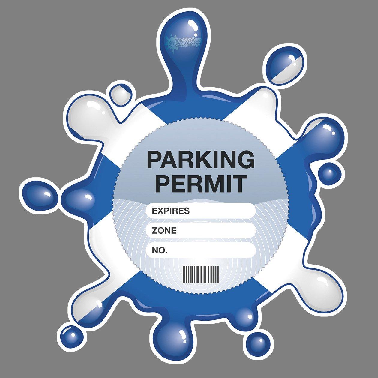 Parking Permit Holder Skin - Scottish Flag Splat Free UK Postage Artisticky AS-0037