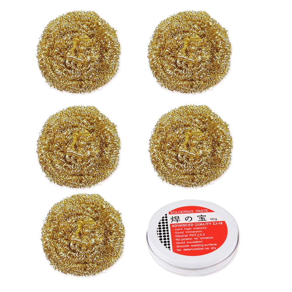 flux Lot de 5 boules de nettoyage pour embout /à souder pointe de fer /à souder et fil de laiton un bon remplacement des /éponges classiques. 30 g//pi/èce