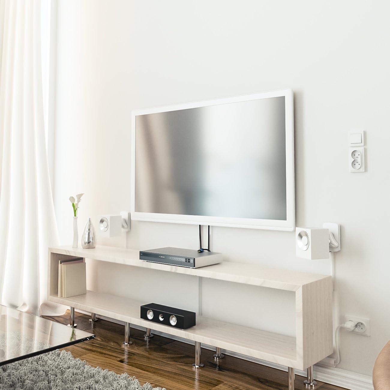 Wandmontage Neigbar bis 10Kg Deckenmontage Schwarz deleyCON 2X Universal Lautsprecher Wandhalterung Set Halterung Boxen Halter Schwenkbar