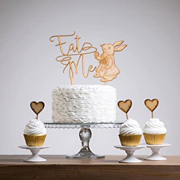Afternoon Tea Party Eat Me Cake Topper Set Birthday Party