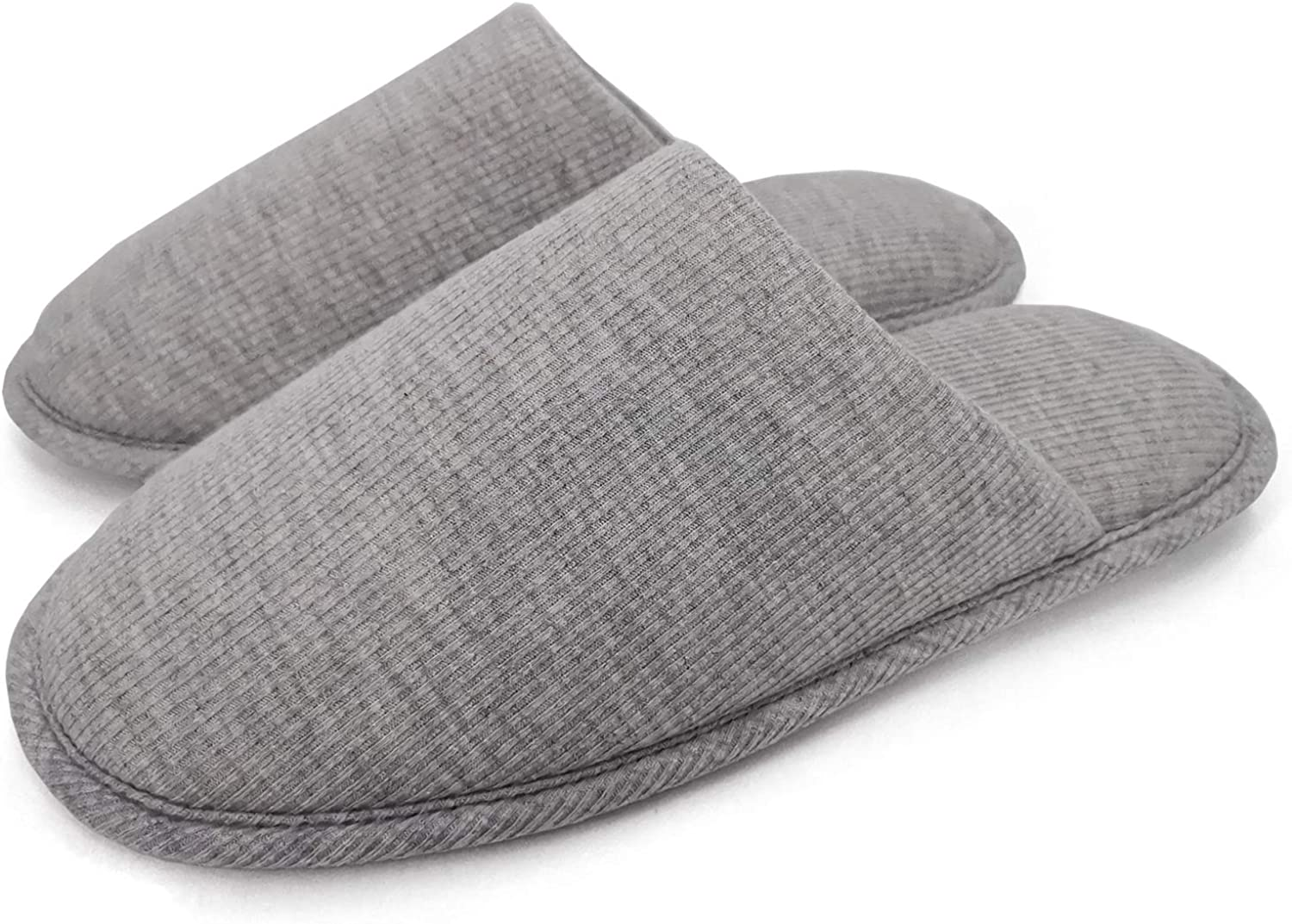 ofoot Men's Organic Cotton Cozy Indoor Slippers, Memory Foam House Flat,Washable Slip on Home Shoes