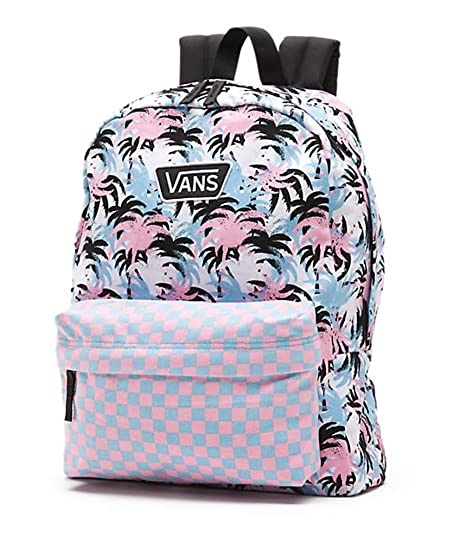 4a8da9d8ab Vans Realm Backpack VN-0YEVEE9 White Pink Black Powder Blue Back Pack Book  Bag  Amazon.ca  Luggage   Bags
