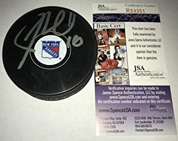 Image Unavailable. Image not available for. Color  Autographed Jimmy Vesey (New  York Rangers) ... 94cf99183