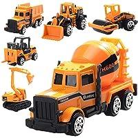 Mumoo Bear Toy engineering vehicle 6 pcs Die Cast Construction Vehicle Toys Mini Engineering Alloy Model Car Set for…