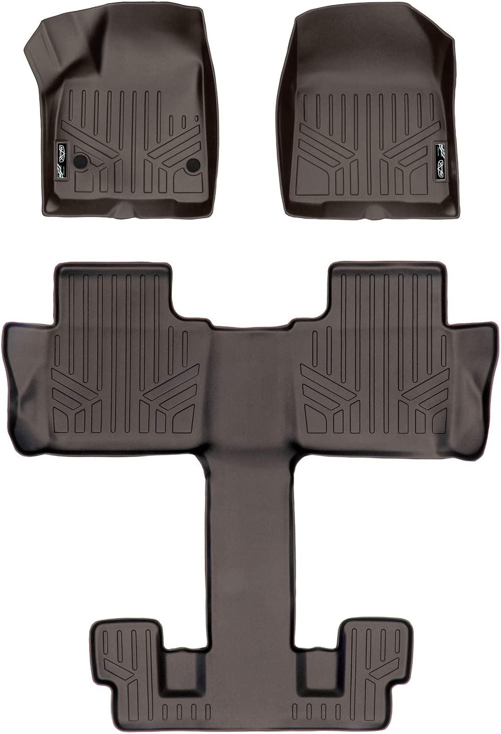 MAXLINER Floor Mats 3rd Row Liner Grey for 2017-2019 GMC Acadia with 2nd Row Bench Seat