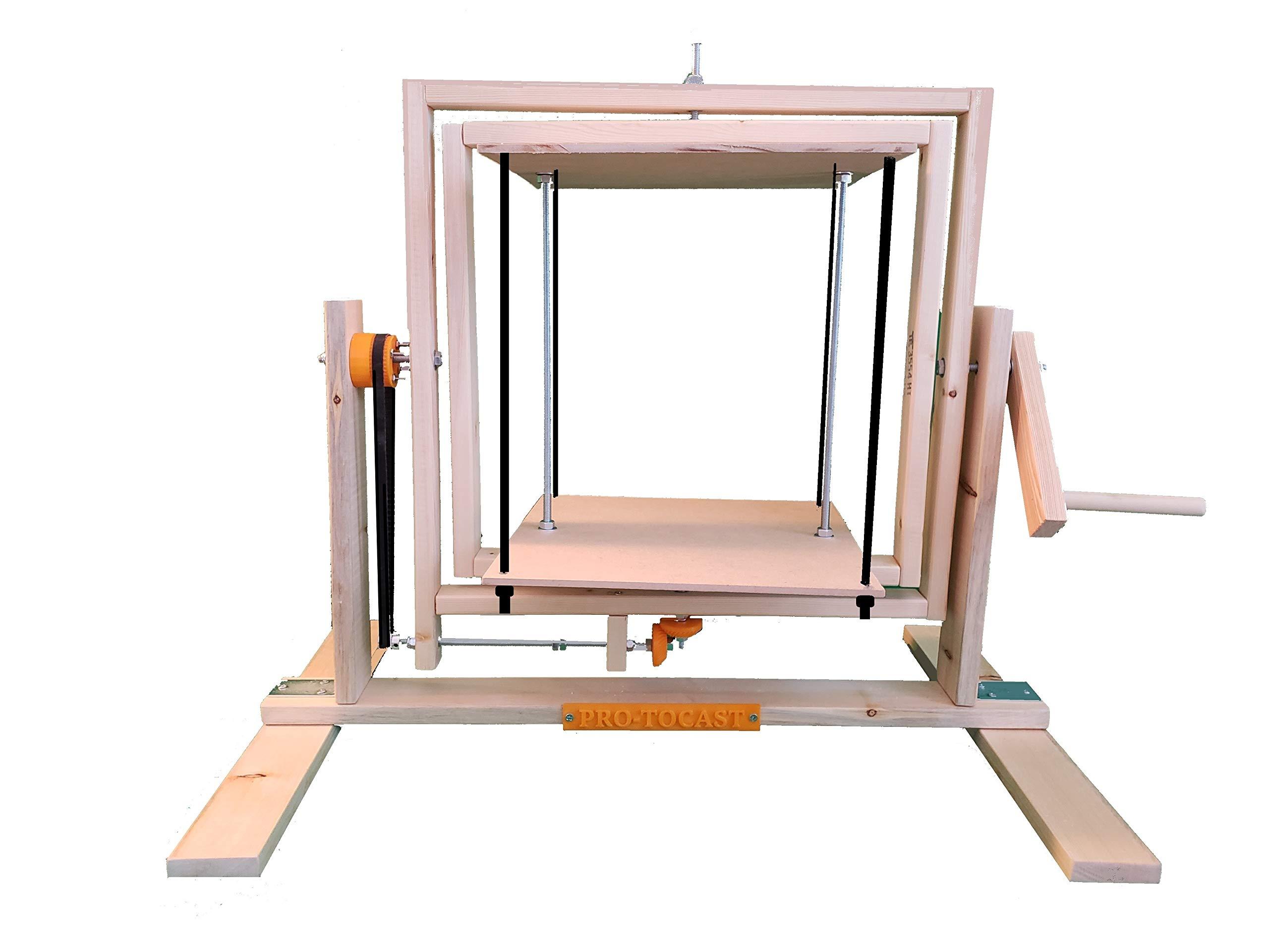 Pro-tocast 360 Multi-Directional Manual Rotocasting Machine w/ 12'' Platform - DIY