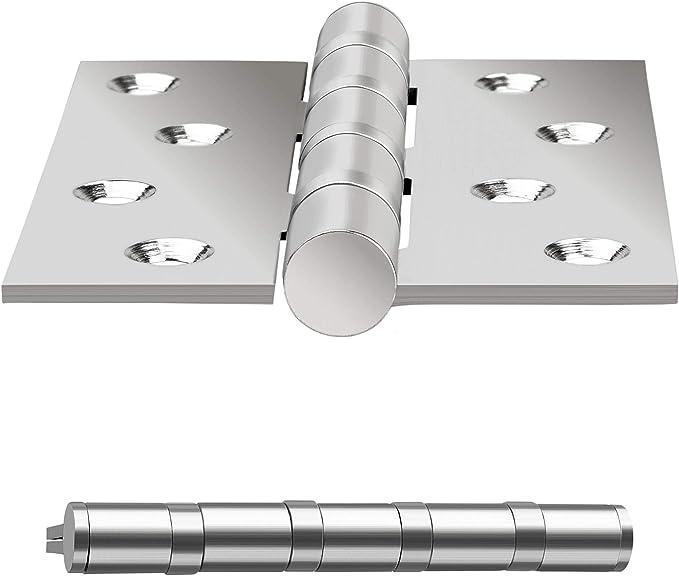 2pcs 3//76/mm Bisagra para puertas de bisagra para puerta de acero inoxidable con tornillo de acero inoxidable Rodamiento de bolas/ /DIN izquierda