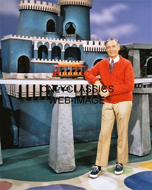 Amazon Com Onlyclassics Mister Fred Rogers 8x10 Photo Children Neighborhood Trolley Television Tv Castle Photographs