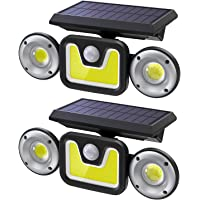 2-Pack Ltteny Motion Sensor Outdoor Solar Light with 3 Modes for Garden Patio Garage