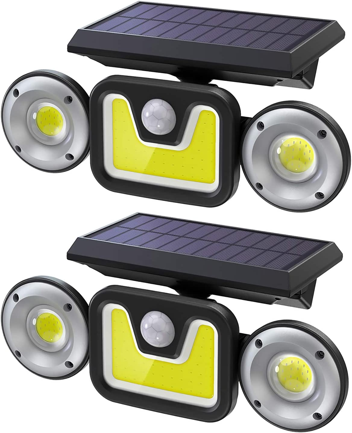 Ltteny 83 LED with 3 heads Solar Security Lights Outdoor Motion Sensor 2 Pack WAS £35.99 NOW £28.04 w/code JTNRWRRP @ Amazon