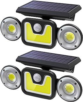 2-Pack Ltteny Motion Sensor Outdoor Solar Light