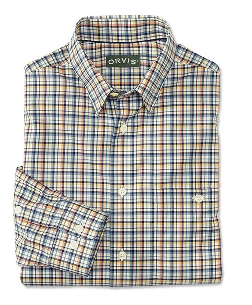 Orvis Hidden-Button-Down Wrinkle-Free Cotton Twill Shirt//Regular