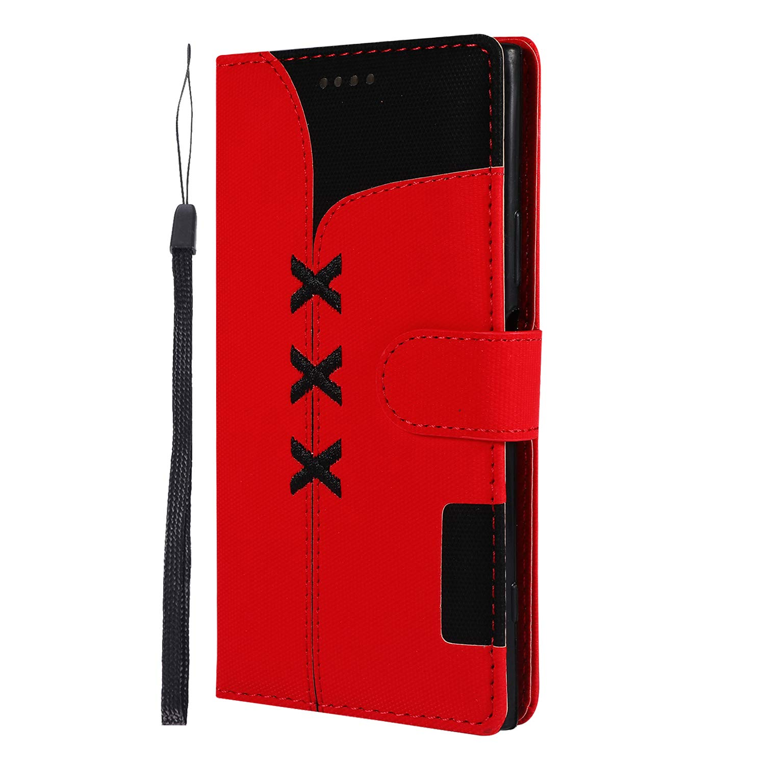 Sony Xperia XZ1 Case Lomogo Leather Wallet Case with Kickstand Card Holder Shockproof Flip Case Cover for Sony Xperia XZ1 LOGHU040405 Black