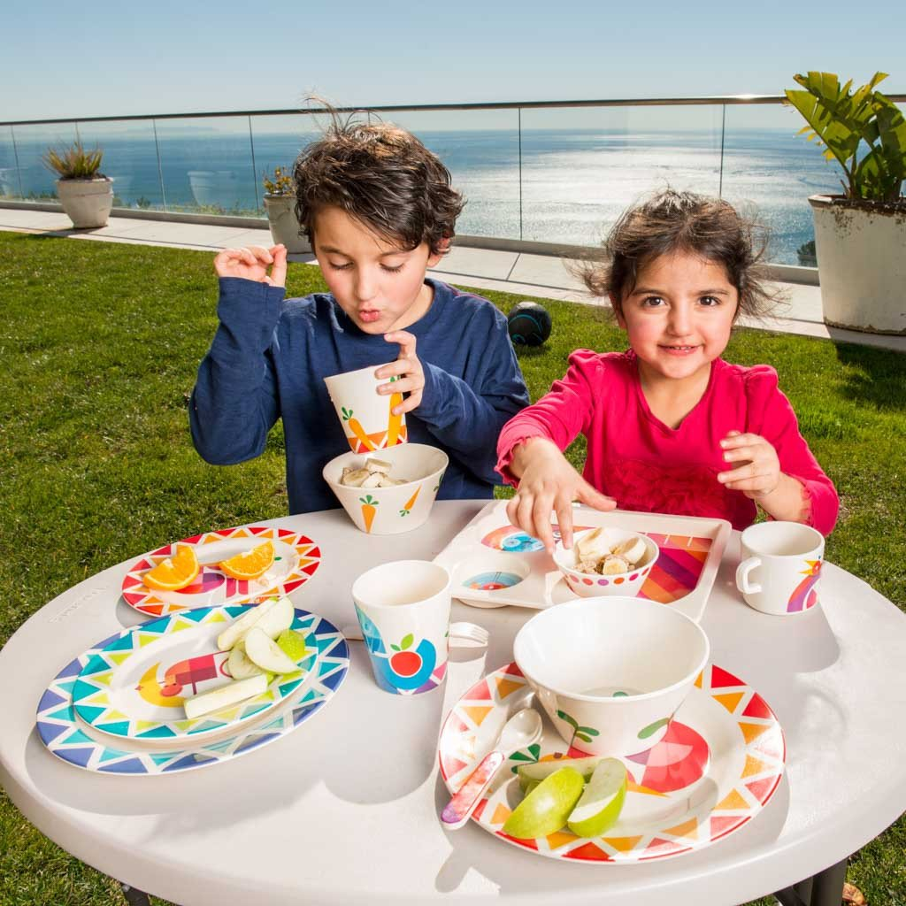 Dylan Kendall Home 35346 Rabbit 4 Piece Kids Plate Set Multicolor