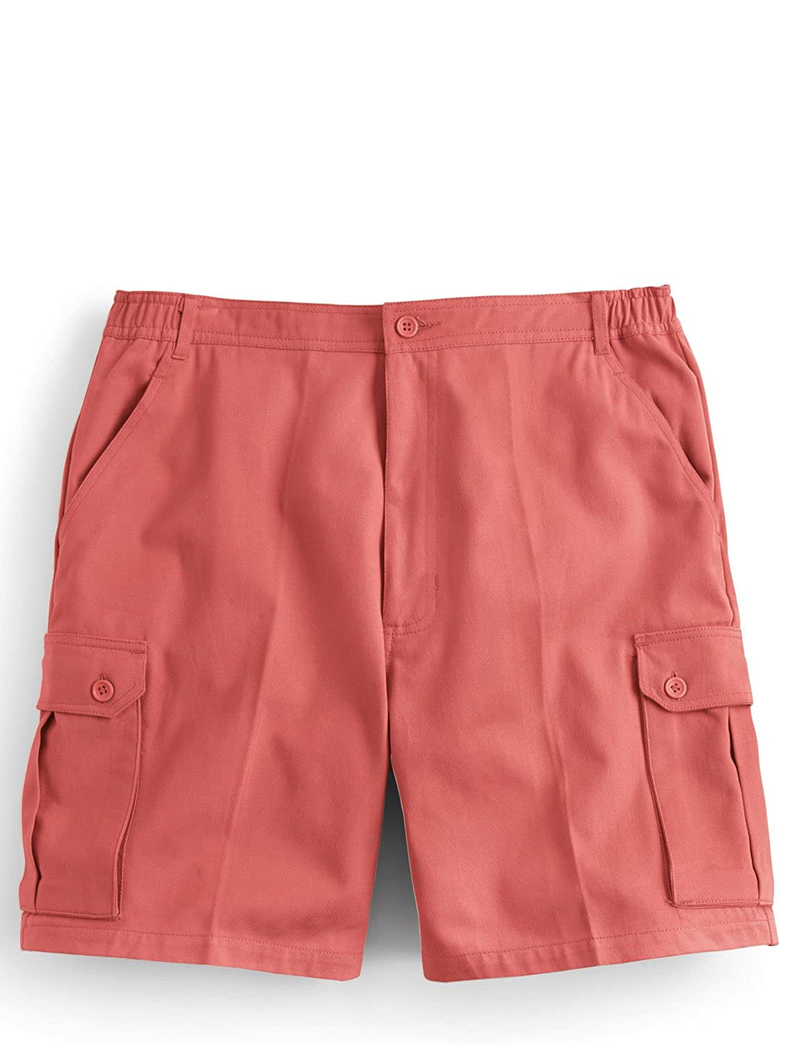 Mens Cotton Cargo Shorts With Side Elastication Chums