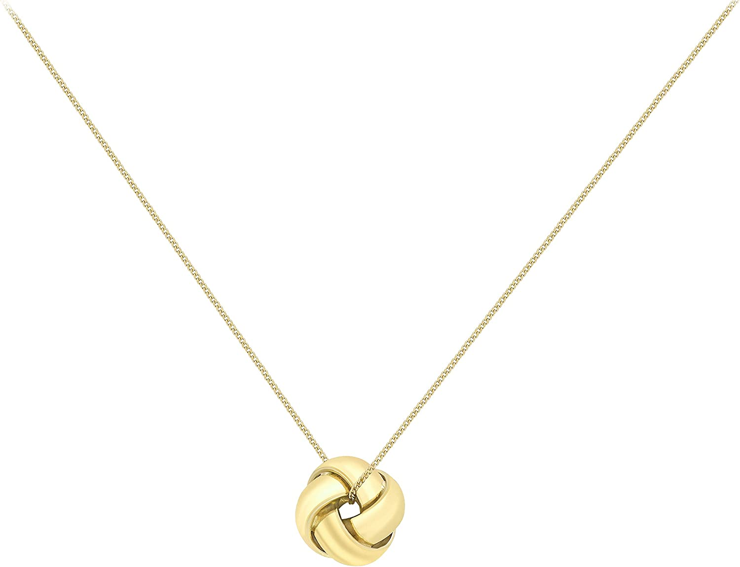 9ct Red Gold Knot Pendant New