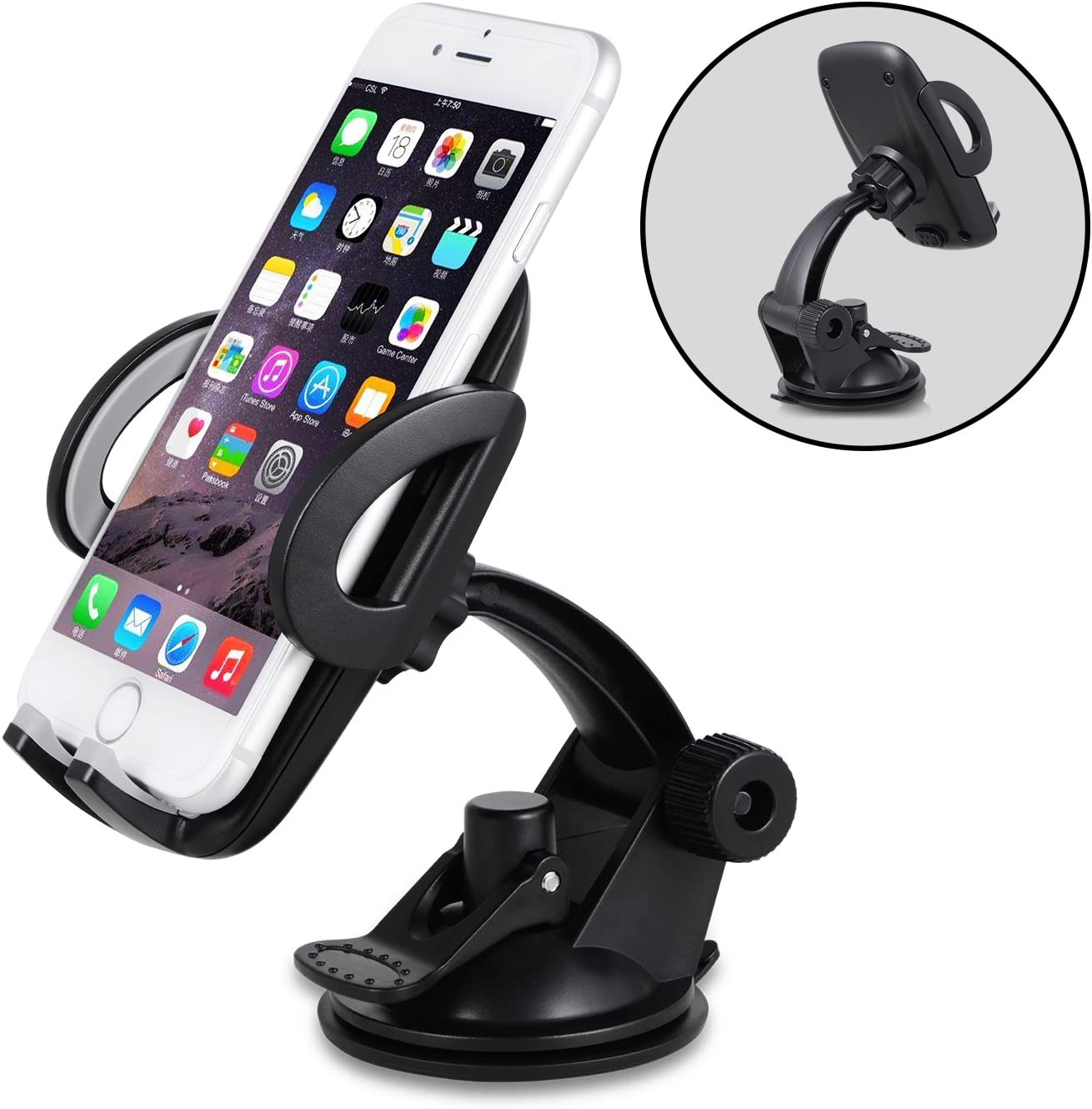 Amoner Car Phone Holder Dashboard Phone Holder for Car Car Phone Mount Washable Strong Sticky Gel Pad Compatible iPhone 11 pro,11 pro max,X,XS,XR,8,7,6 Plus,Galaxy S20,10,9,8,Google Nexus
