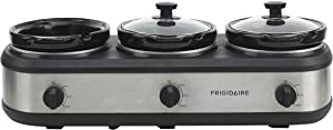 FRIGIDAIRE ESC3105-SS Triple Slow Cooker Buffet Server, Stainless
