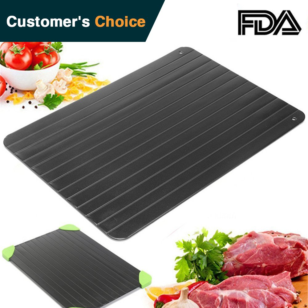 urbanviva Fast Defrosting Tray for Frozen Food Thawing Plate Defrost Meat/Frozen Food Quickly without Electricity Microwave Hot Water or Any Other Tools