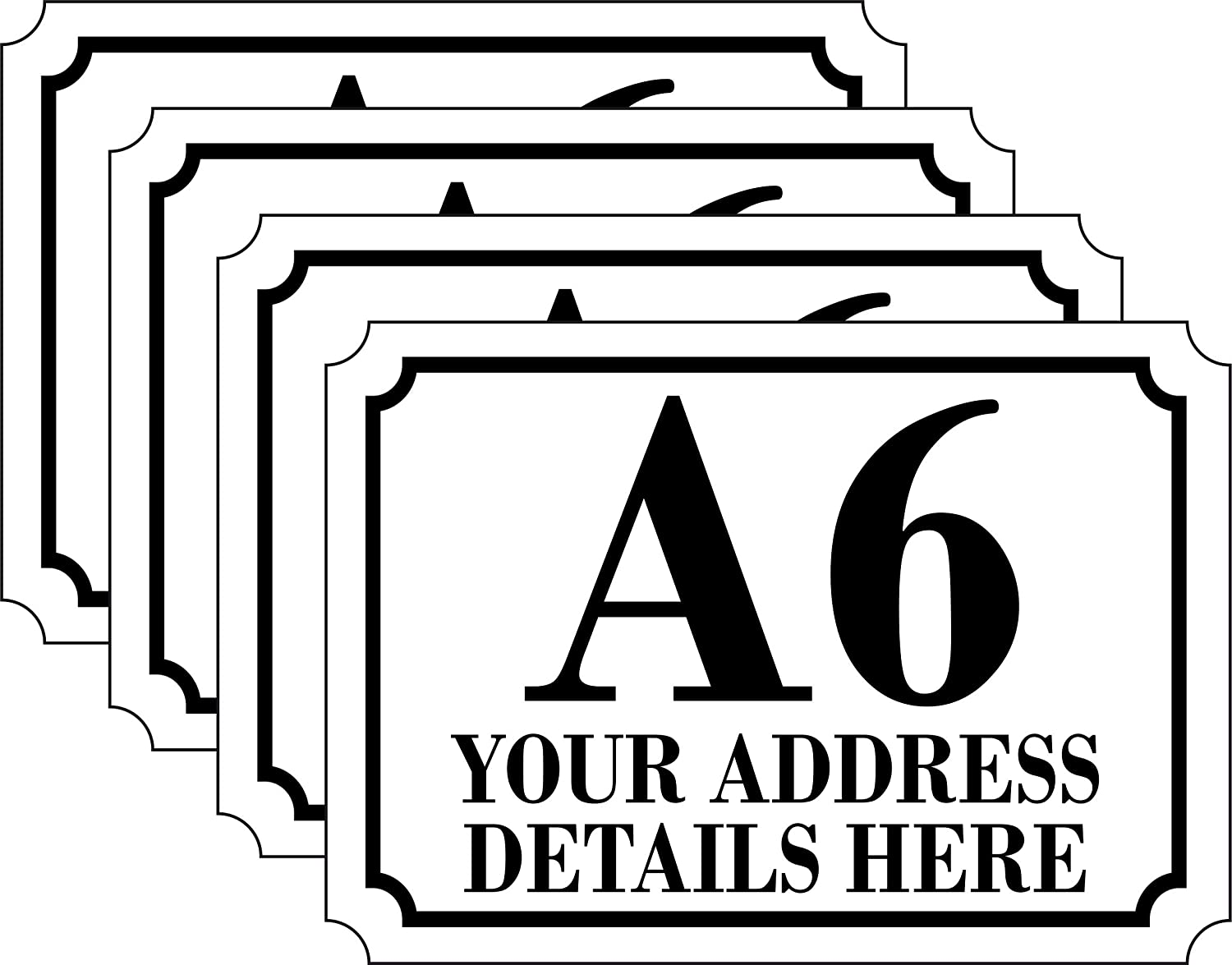 The Lazy Cow Personalised Printed Wheelie Bin Number Stickers with number and road Name A4 CUSTOM BIN LABELS A4 Vinyl Waste Container Decals set of 4 1