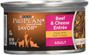 Purina Pro Plan Canned Adult Beef Cheese Food in Gravy, 3 oz.