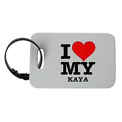 I LOVE MY KAYA luggage tag