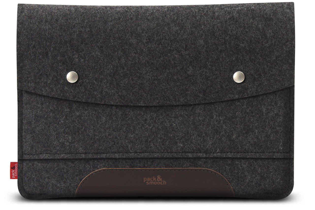 B01JIW3TNK Pack & Smooch MacBook 12 inch Case Sleeve Cover - 100% Wool Felt And Vegetable Tanned Leather - Handmade in Germany 71LFlY5KRPL._SL1280_