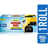 JOFF Premium Garbage Bags - Small (43cmx51cm, 1 Roll, 30 Bags, Black)