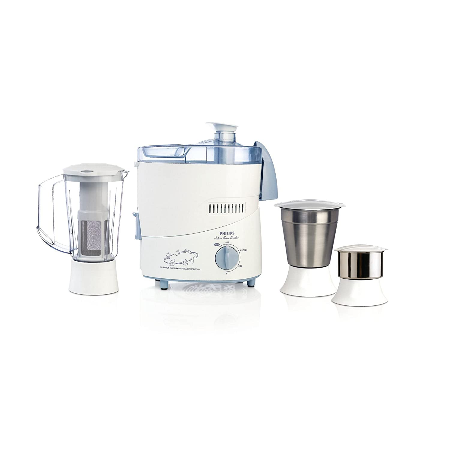 33% discount on Philips HL1632 500-Watt 3 Jar Juicer Mixer Grinder with Fruit Filter (Blue) @2658 at Amazon. in