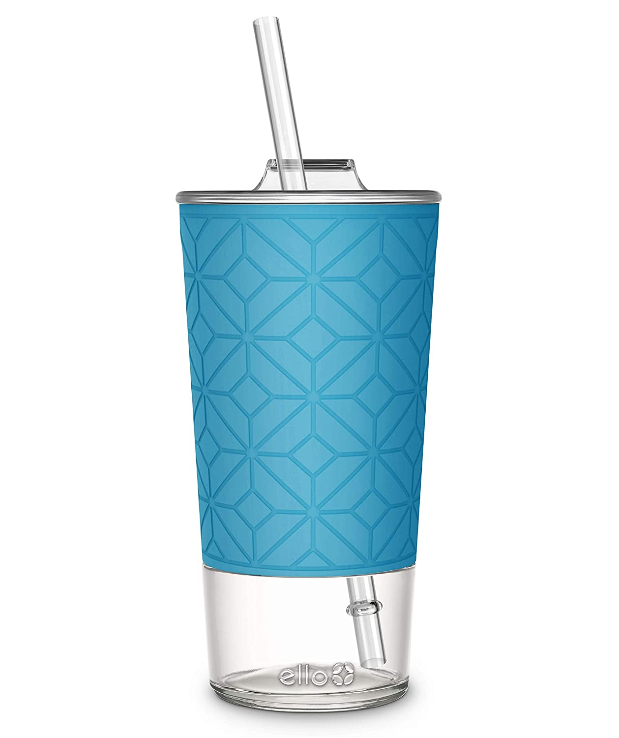 Ello Tidal 20oz Glass Tumbler with Straw