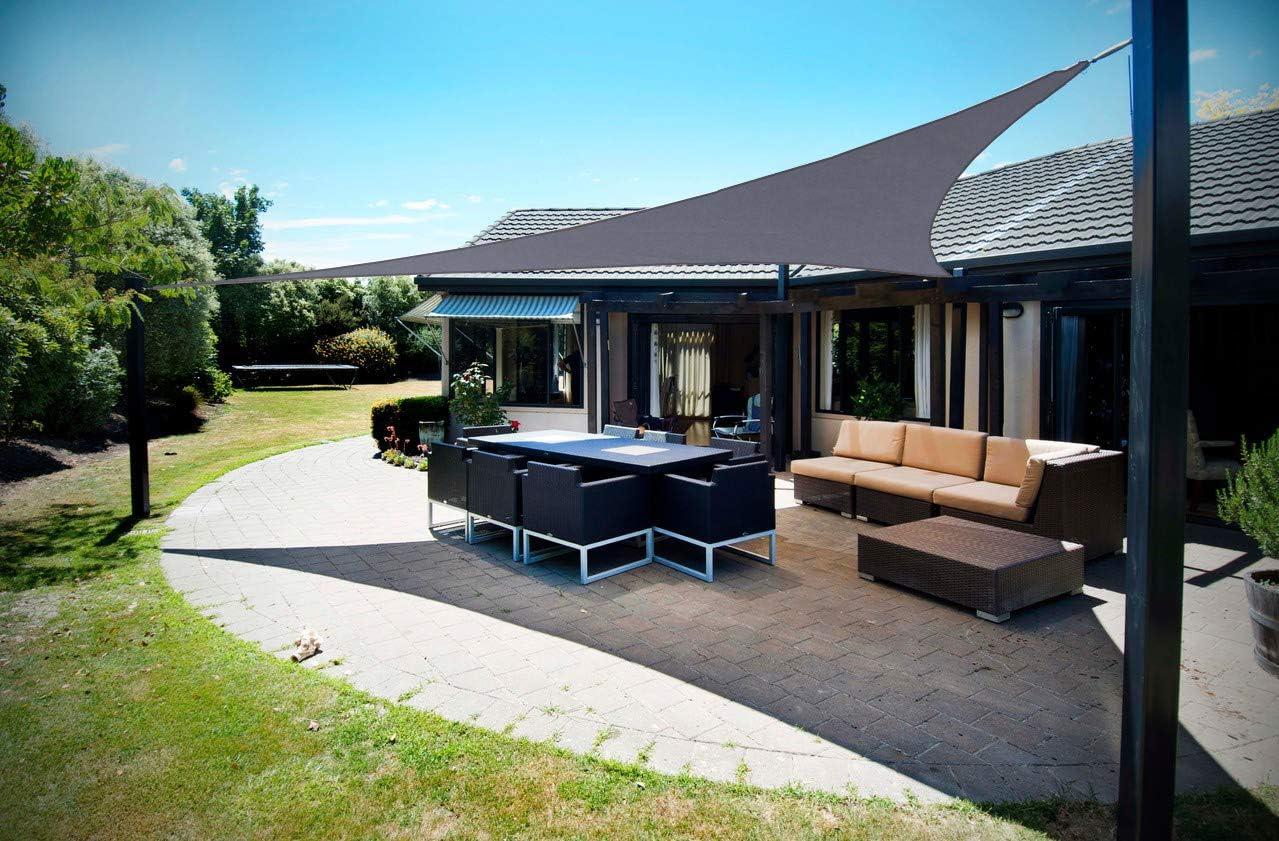Grigio SUNNY GUARD Tenda a Vela Rettangolare 2x2m Antivento Impermeabile Protezione Raggi UV per Giardino terrazza Campeggio