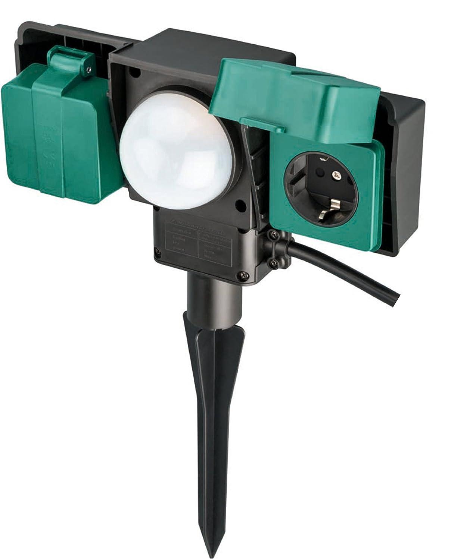 giardino estensione cavo 2M con attacco a doppia presa con un livello IP54 impermeabile sensore di alba esterna LIGHTEU crepuscolo allalba luce attacco attivato allaperto AC power