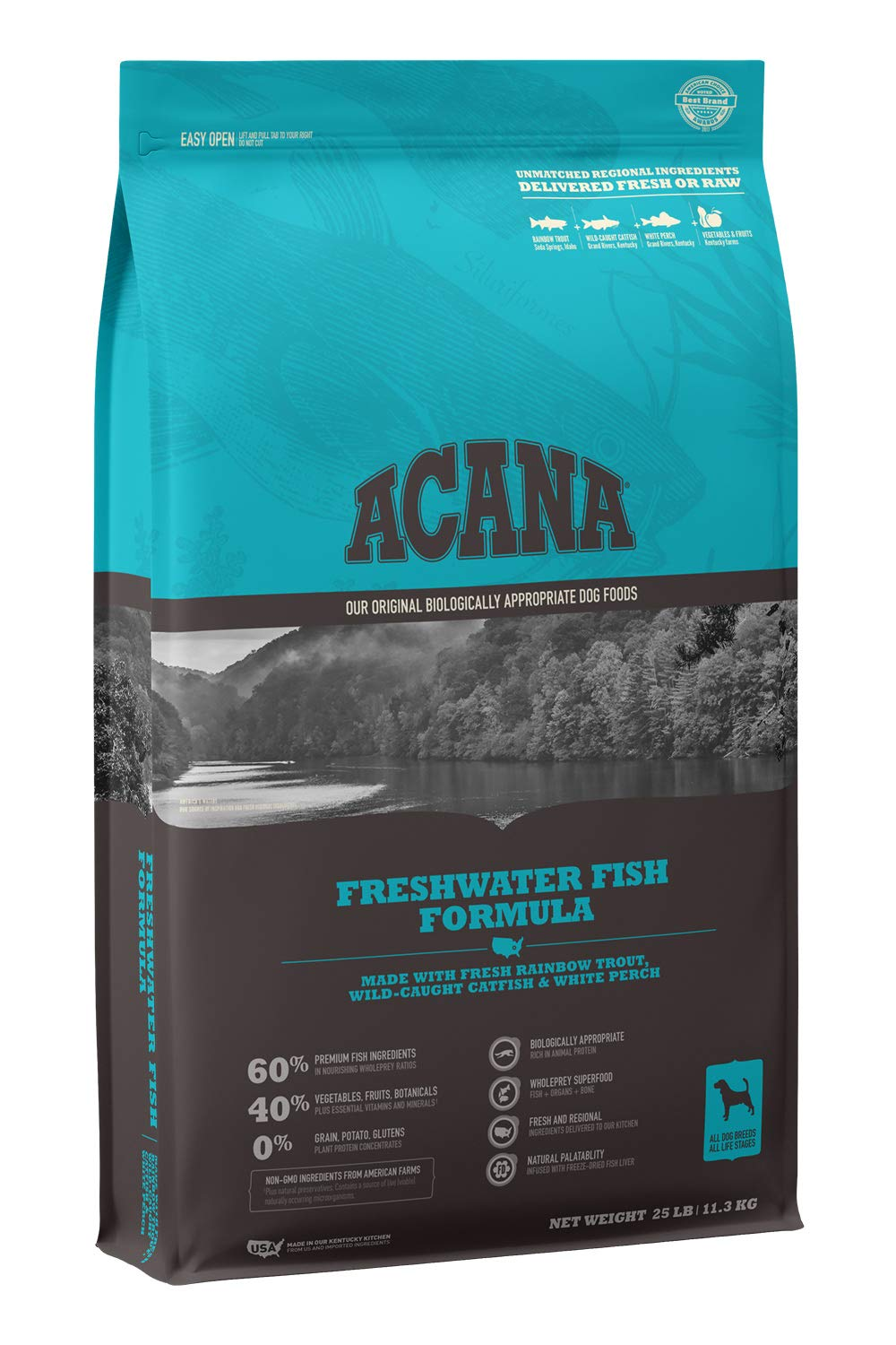 ACANA Heritage Dry Dog Food, Freshwater Fish, Biologically Appropriate & Grain Free by ACANA