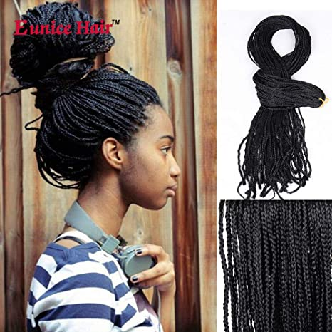 3 Packs Eunice Hair Synthetic Crochet Tresses Twist Wave Boîte Braid 28  inch Soft Hair Twist