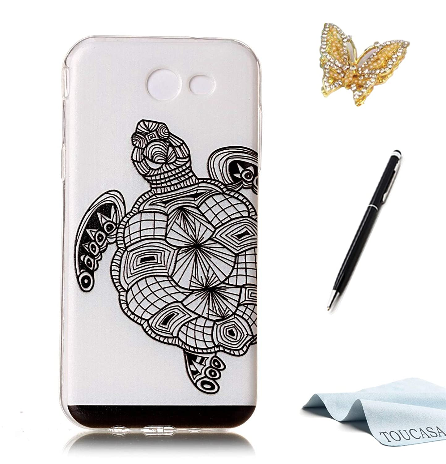 Coque Galaxy J5 2016, Housse Galaxy J5 2016, TOUCASA Anti Choc Silicone Coque, Bling Mince Souple Premium Hybrid Crystal Clear Flex Soft Gel Cover Skin Extra Slim Cristal Clair Gel TPU Neuf Style Brillant Bling Glitter Sparkle Pailletee Silicone Caoutchouc