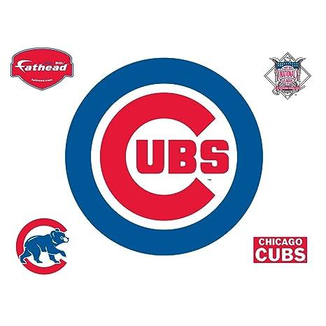 Amazon Fathead Chicago Cubs Logo Wall Decal Sports Fan Wall