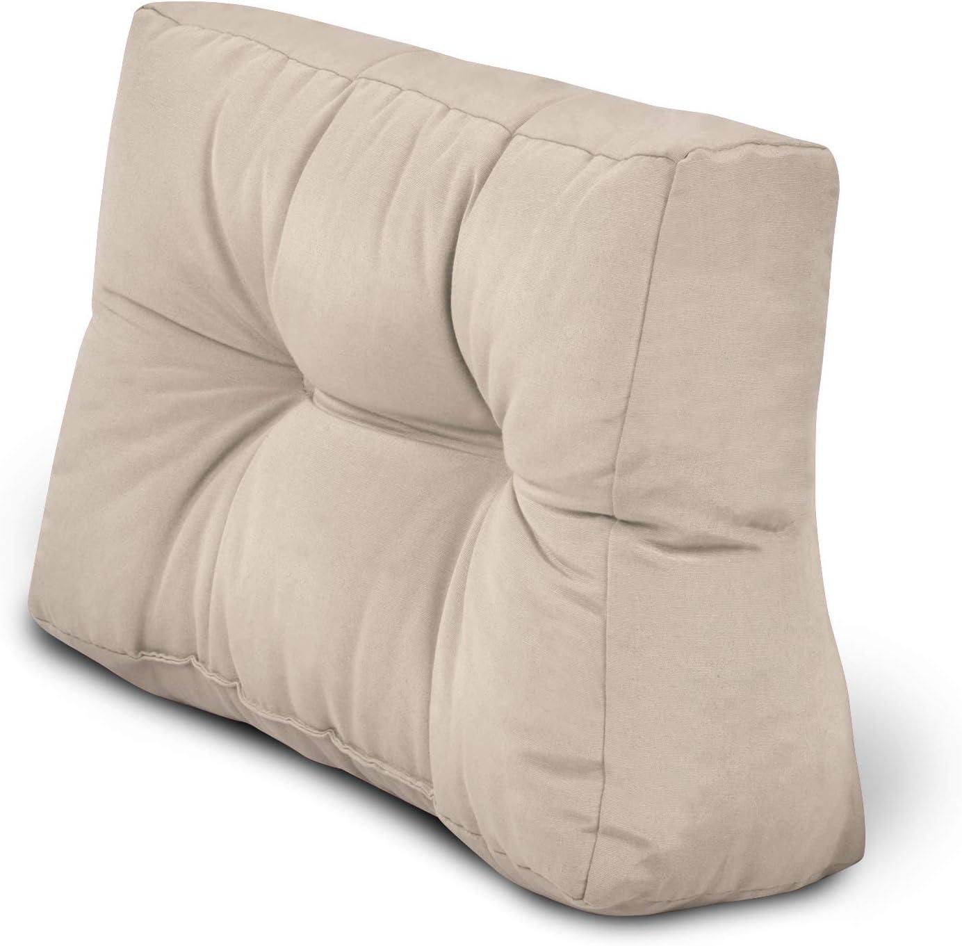 120x40x10-20cm Schienale per Divano Beautissu Cuscino per spalliera di divani per bancali o Pallet Eco Style Grigio