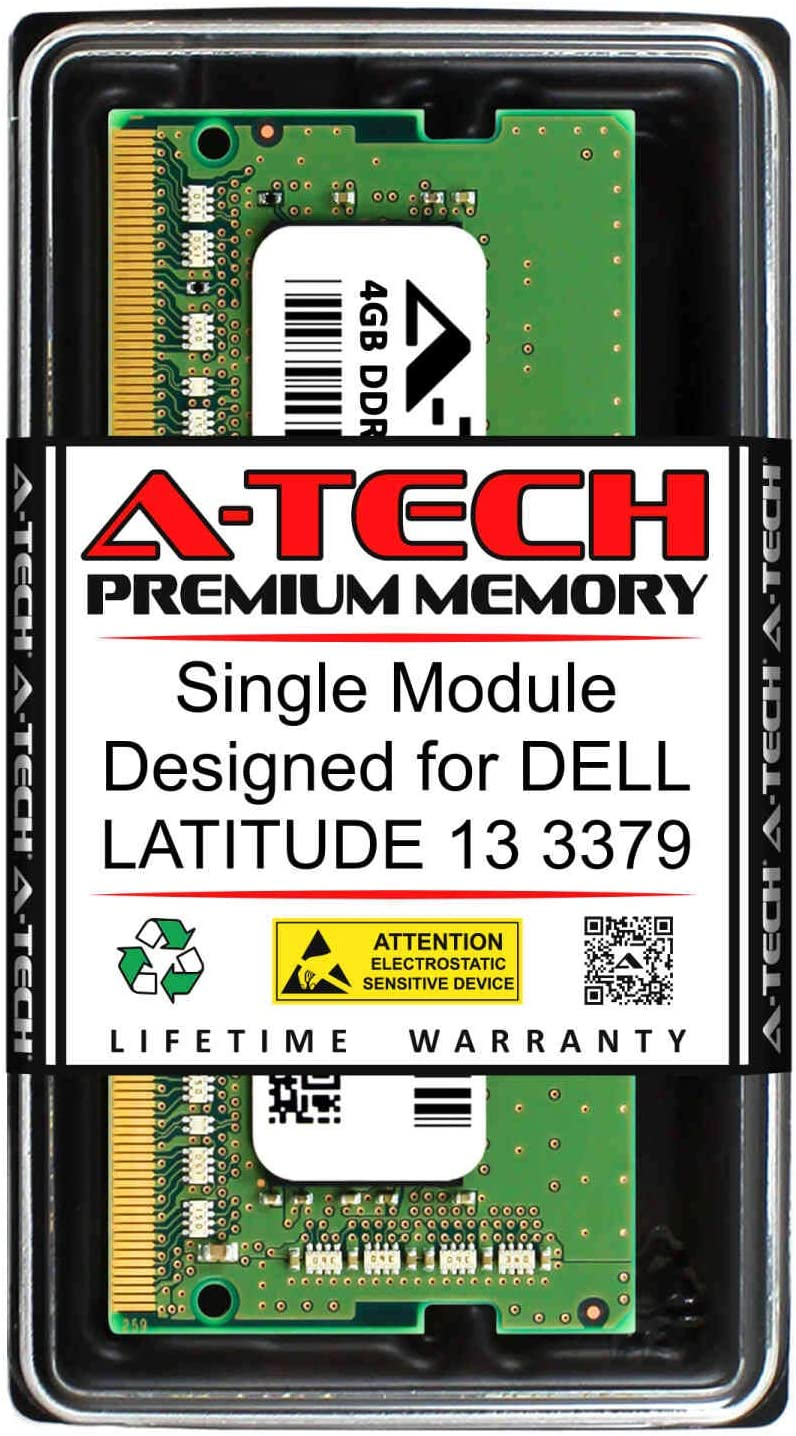 A-Tech 4GB RAM for DELL Latitude 13 3379 | DDR4 2400MHz SODIMM PC4-19200 260-Pin Non-ECC Memory Upgrade Module