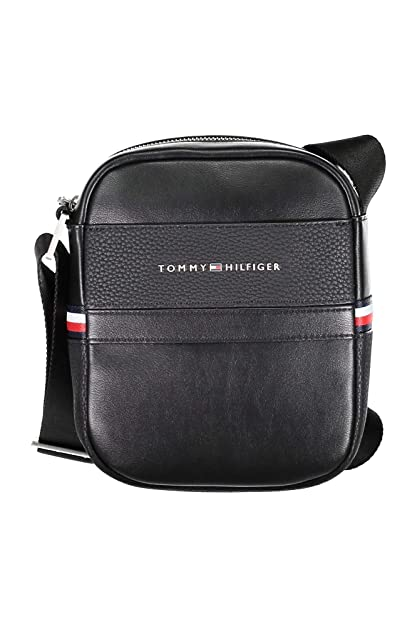 206aa8df5f Tommy Hilfiger Th Business Mini Reporter, Men's Shoulder Bag, Black,  6x21x18 cm (
