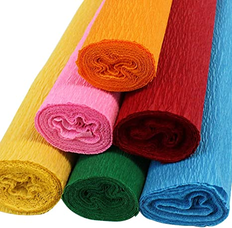 Color: Peach Just Artifacts Premium Crepe Paper Roll 8ft Length//20in Width